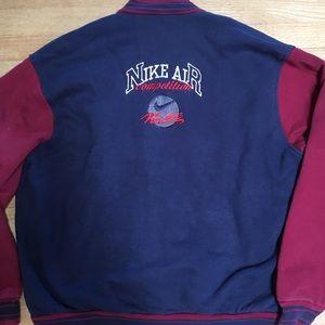 Nike Air Navy Cotton Varsity Baseball Jacket XL
